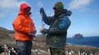 Researchers studying penguins on Deception Island, Antarctica (c) Andrew Barbosa
