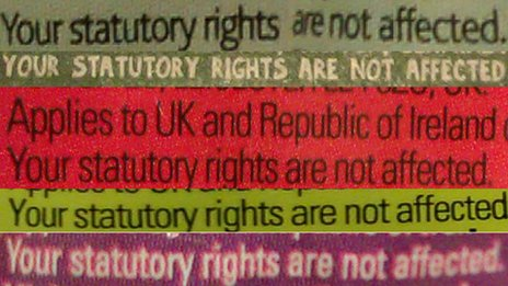 Selection of references to statutory rights not being affected