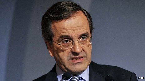 Greek conservative leader Antonis Samaras, 31 May 2012