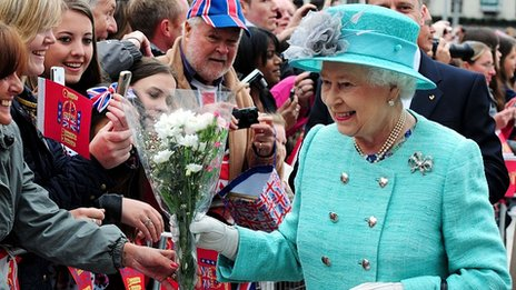 The Queen in Nottingham