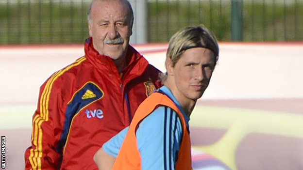 Vicente del Bosque and Fernando Torres