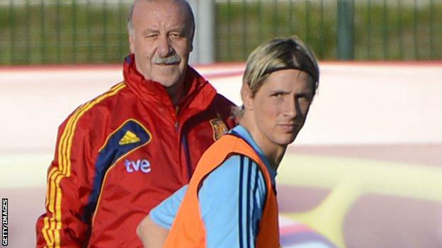 Vicente del Bosque and Fernando Torres