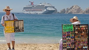 Tourist beach in Baja California - file photo
