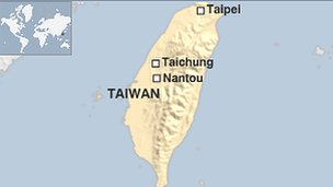 Map of Taiwan flooding areas