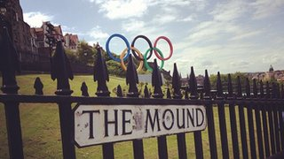 Olympic rings in Edinburgh
