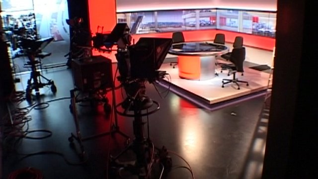 BBC Midlands Today studio time lapse