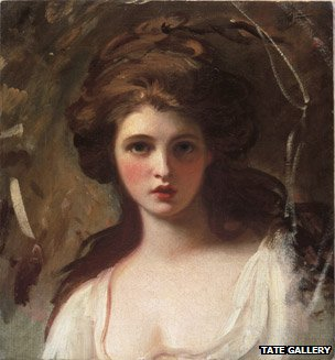 George Romney, Lady Hamilton as Circe ©Tate, London 2011
