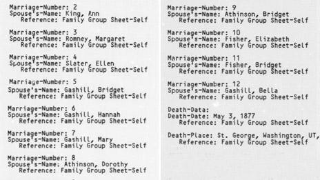 LDS church membership records