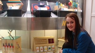 Seanine Hasson is one of the pupils whose work is on display