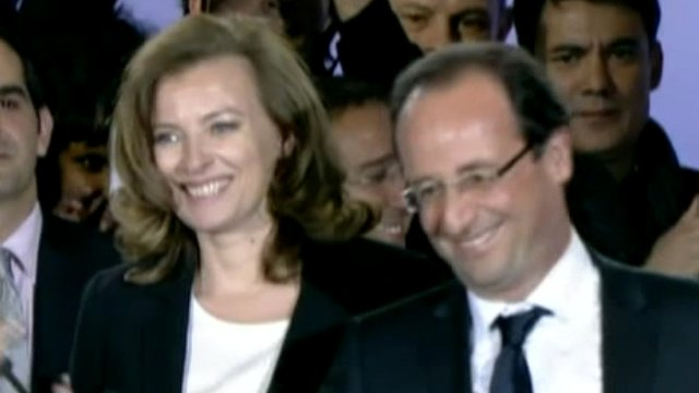 Valerie Trierweiler with Francois Hollande