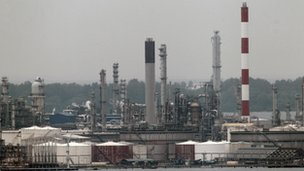 Royal Dutch Shell refinery in Singapore