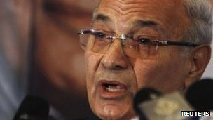 Ahmed Shafiq at a news conference, June 3, 2012