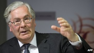 Sir Mervyn King, governor of the Bank of England