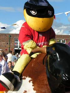 Deepdale Duck, the Preston North End mascot