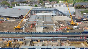 Reading station' s rebuilding project