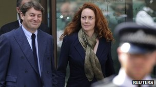 Charlie and Rebekah Brooks leave court