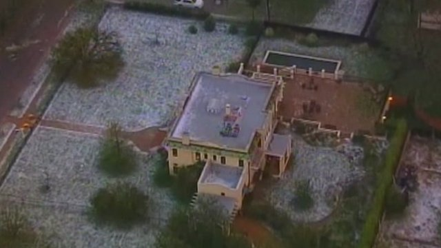 Aerial view of hail stones