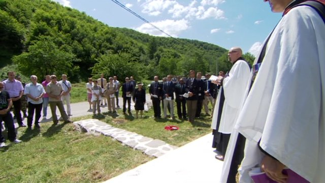 A rededication ceremony takes place in Gorazde, Bosnia