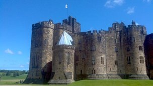Alnwick Castle, pic courtesy of Daniel Gurney