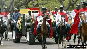 President Eyadema's funeral procession