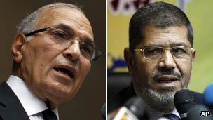 Ahmed Shafiq and Mohammed Mursi
