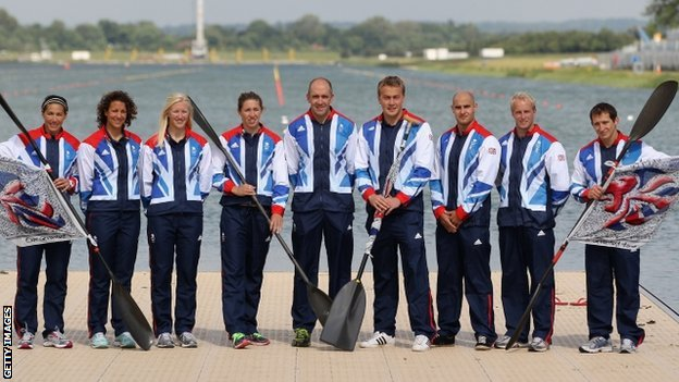 GB canoe sprint squad for London 2012