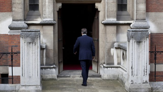 David Cameron arrives to give evidence at the Leveson Inquiry