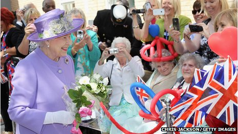 The Queen in Hitchin during Diamond Jubilee tour