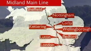 Midland Mainline map