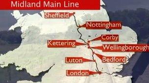 Midland Mainline map
