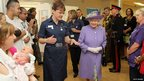 Queen Elizabeth II at the Lister Hospital, Stevenage