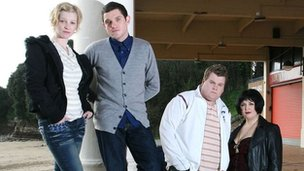 Cast of BBC comedy Gavin and Stacey