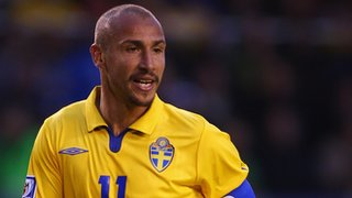 Henrik Larsson in action for Sweden