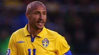 Henrik Larsson in action for Sweden