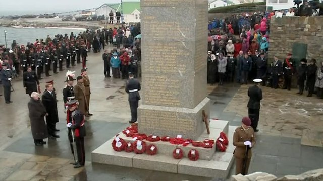 Falklands ceremony