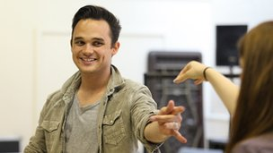 Gareth Gates in rehearsals