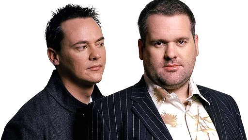 Radio 1's Chris Moyles and Comedy Dave