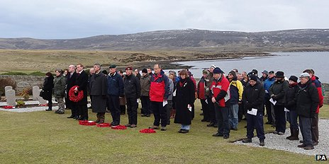 Commemoration service on Falklands