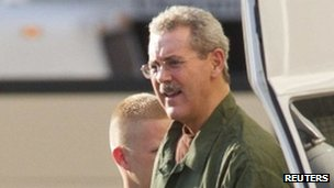 Allen Stanford arrives at court in Houston 14 June 2012