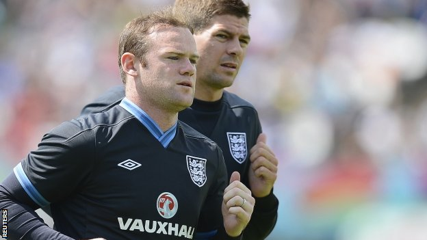 Wayne Rooney and Steven Gerrard