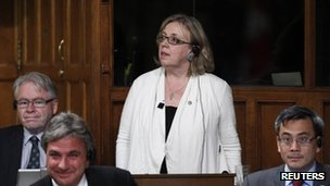 Elizabeth May votes during omnibus bill 14 June 2012