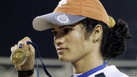 Pinki Pramanik won four gold medals in 2006