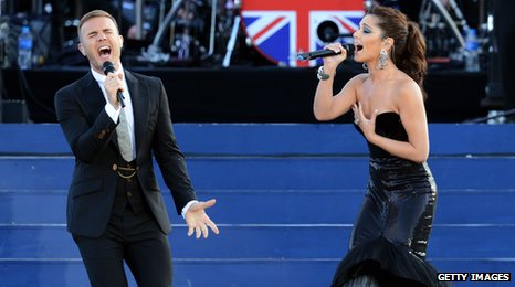 Gary Barlow and Cheryl 