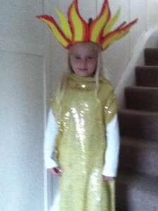 Girl in torch costume