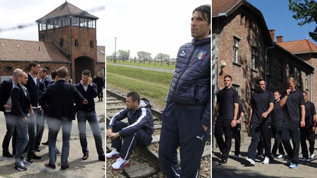 Footballers at Auschwitz