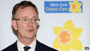 Sir Tom Hughes-Hallett, retiring chief executive of Marie Curie Cancer Care
