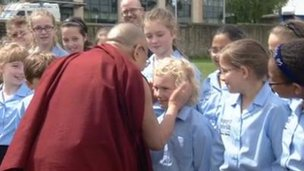 Dalai Lama and children
