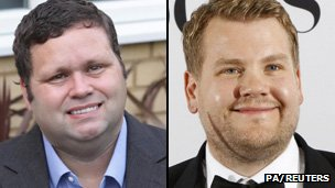 Paul Potts (left) will be played by Gavin and Stacey star James Corden