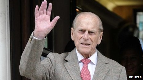 Prince Philip leaving hospital