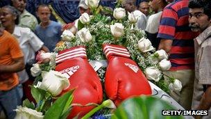 Teofilo Stevenson's funeral